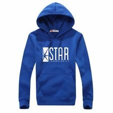 Fashion Cool Flash DC Barry Allen Laboratories Star Labs Mens Black Blue Hoodie