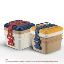 3-Layer Portable Lunch Box Lunchbox Picnic Box Food Container Home Office W7F2