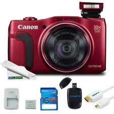 Canon PowerShot SX710 20.3MP Digital Camera (Red) + Expo Basic Kit