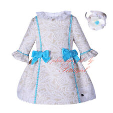 Toddler Girls Bow Party Dress with Headband Christmas Gift Party Pageant Wedding