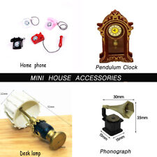 1:12 DollHouse BJD Scene Miniatures Home phone phonograph clock Doll Accessory