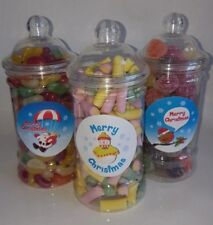 CHRISTMAS victorian jar filled with your favourite retro sweets