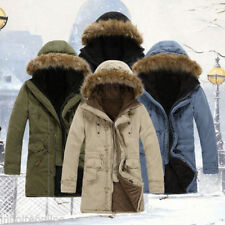 HOT SALE Men Military Padded Hooded Parka Thick Cotton Trench Coat Winter Jacket