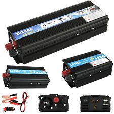 Solar Power Inverter 2000W 1200W 500W Car Converter DC 12/24V to AC 110V Adapter