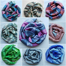 100% Pure Natural Thai Silk Scarf Hand-woven Soft Shiny Shawl from Thailand