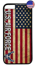 US Air Force USA Flag Logo United States Rubber Case Cover iPhone 8 7 Plus 6 5 X