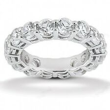2.85CT Ladies Round Cut Diamond Eternity Band Ring Size 7 in 14kt White Gold