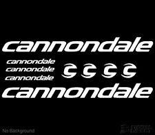 Cannondale Decal Cycling Bike Stickers Set of 9 Frame Replacement 60degree slant