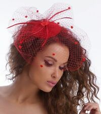 Ladies Mini Hat Fascinator Hat Burlesque Style Hair Jewelry Headpiece with Veil