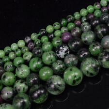 Natural Ruby Zoisite Gemstone Stone Round Beads 15'' 4mm 6mm 8mm 10mm