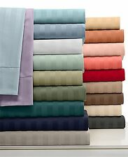 US Deep Pocket Fitted Sheet 1000 TC Egyptian Cotton Full Size Striped Colors