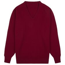 Community Clothing Women's Claret Wool V-Neck Jumper