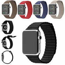 For Apple Watch iWatch 38/42mm Leather Loop Magnetic Buckle Band Strap Wristband