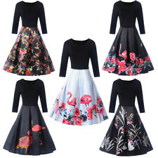 Sexy Women Vintage 50s 60s Housewife Retro Pinup Swing Party Cotton Short Dress