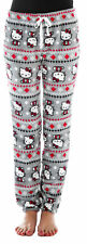 Hello Kitty Christmas Juniors Fleece Lounge Pajama Pants Gray