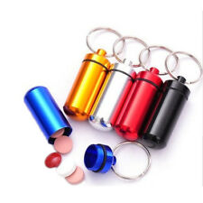 Waterproof Mini Pill Box Case Bottle Aluminum Medicine Holder Container Keychain