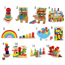 Wooden Intellectual Toy Colorful Puzzle Montessori Blocks Developmental Baby Toy