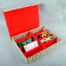 Leopard portable box travel Sunglasses Glasses Display grid Storage Case Box New