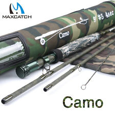 Camo Fly Rod 9ft 5WT 4Sec 7Sec Graphite Camo Blank Cordura Fishing Rod Tube
