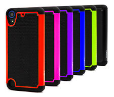 Fits HTC Desire 650, 530 Case Heavy-Duty Dual-Layer Hard Back Cover