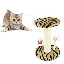 Sisal Cat Toy Scratching Scratcher Post Activity Center Cat Tree Cyclider Bed