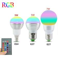 Light Rgb Led Lamp Magic Bulb E27 Remote 16 Control 5w Color Changing Spot