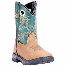 Dan Post Youth Girls Tan/Green Cowboy Boots Leather Cowboy Boots