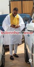 Odeneho Wear Men's 3 Pieces Set Shadda Agbada. African Clothing.All Colors.