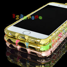 Colorful Crystal S-Line Rhinestone Bling Clip Case Bumper For iPhone 6 5 5s SE