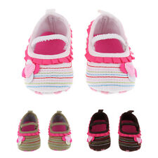 Newborn Baby Girl Flower Anti-slip Crib Shoes Soft Sole Sneakers Prewalker 0-18M
