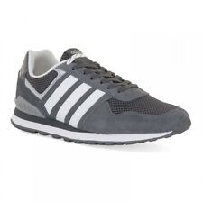 Mens Adidas 10K Trainers Dark Grey Casual Lace Up Mesh Leather Trainers