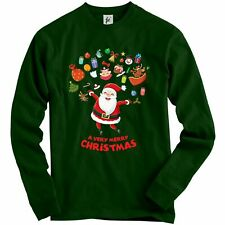 Merry Christmas Santa Jumping Joy Cake Tree Owls Adult Christmas Jumper