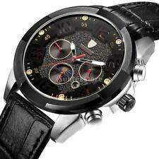 Tevise Automatic Watch Mechanical Six Hands Analog Calendar Week Military Mens