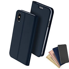 iPhone X 8 7 PLUS Case Magnetic Flip Leather Wallet Card Slim Case Cover Apple