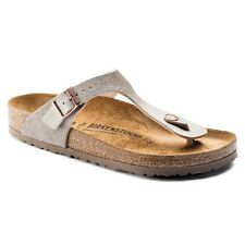 Birkenstock Birko-Flor Gizeh $149rrp Animal Fascination Mud BNIB 1006657