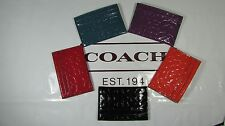 NWT Coach Embossed Liquid Gloss Card Case F62544