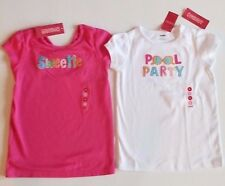 NWT Gymboree Popsicle Party Pool White or Pink Sweetie Top Shirt 9,12 CUTE! PICK