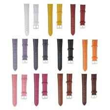 PU Leather Watch Strap Band Wrist Watch Strap Replacement with Buckle Tools 18mm
