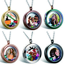 Personalized Photo Picture Free Custom Engraving Charm Locket Pendant Necklace