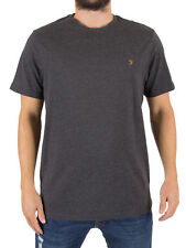 Farah Vintage Men's Denny Slim Fit Logo T-Shirt, Grey