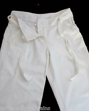 New Womens White Linen NEXT Crop Trousers Size 8 6