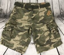 Aeropostale Men Cape Juby Belted Camo Cargo Shorts Size 30 and 31 NWT