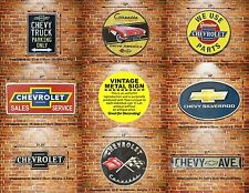 CHEVY Chevrolet Metal Tin Sign Decor Muscle Car Auto Garage Parts & Services Ad