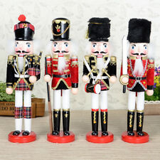 Wood Nutcracker Solider Christmas Decoration Ornament Toy Xmas Gift Handpainted