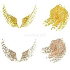12Pcs Jewelry Charm Necklace Pendants DIY Large Alloy Wings Findings Makings