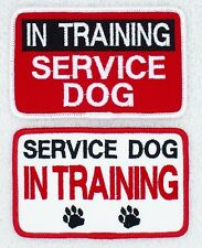 "In Training Service Dog Patch 2.5X4"" Assistance Support Medical"