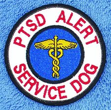 "PTSD Alert Service Dog Patch 3"" Disabled Veteran Medical Support Assistance"