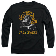 MILES DAVIS JAZZ LEGEND Licensed Adult Long Sleeve T-Shirt S-3XL