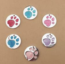 Paw Print Personalised Dog Tags Stainless Steel Pet Cat ID Name Tag