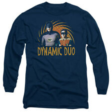 Batman 60's TV Show DYNAMIC DUO Robin Licensed Adult Long Sleeve T-Shirt S-3XL